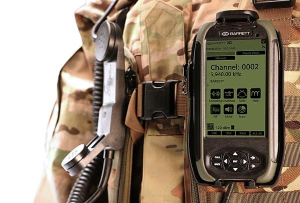 Barrett PRC-4090 Handset with tactical screen display