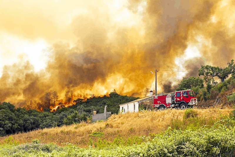 How HF radio communication alleviate damage during wildfires
